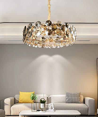 KANJJ-YU Luz de cristal moderno de luz ligera lámpara simple lámpara de sala de estar creativa Clásico (Emitting Color : Cold White)