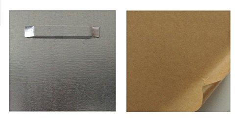 Zenith Art Aluminium Aufhängeblech selbstklebend - 45 x 45mm zum aufhängen für bilder - Bildaufhänger Haftblech Wandhalterung
