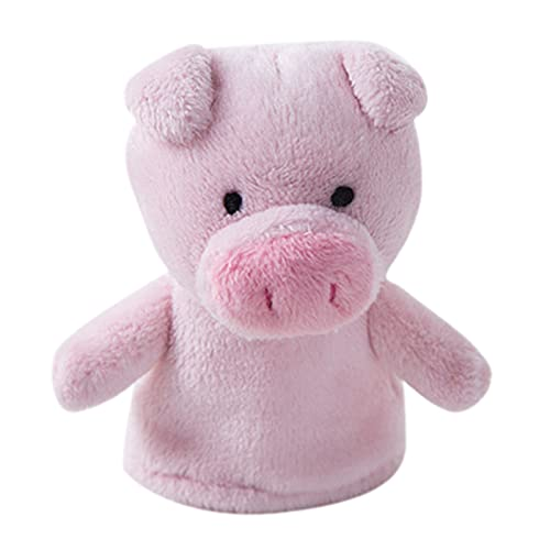 YSJJRGN Marionetas de Mano Bebé Animal Dedo títeres Suave Peluche muñeca Dibujos Animados Animal niños Mini Dedo Juguetes (Color : Pink Pig)