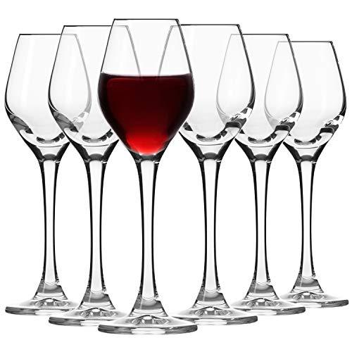 Krosno Likör Glas | 6-teiliges Set | 60 ml | Splendour Kollektion | Perfekt für Zuhause, Restaurants und für Partys und Veranstaltungen | Spülmaschinenfest und für die Mikrowelle geeignet