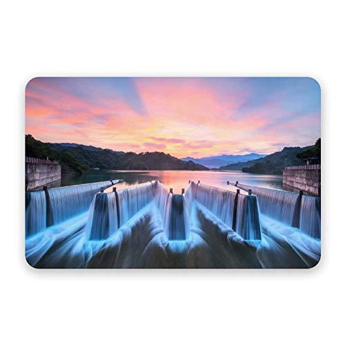 Diatom Mud Mat River, paisaje de montaña, puesta del sol, selva, Tailandia secado rápido y antideslizante, alfombrilla absorbente de diatomeas para puerta de baño, 40 x 60 cm