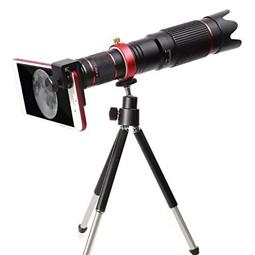 MKDASFD 4K HD 36X Zoom óptico Lente de cámara Lente telefoto Alcance del telescopio del teléfono móvil con trípode Clip para teléfono para Samsung iPhone Huawei