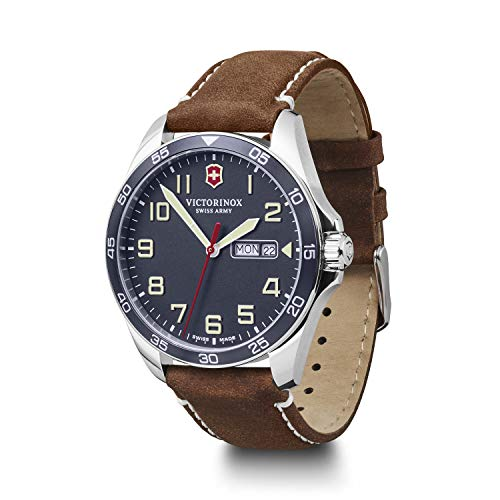 Victorinox Herren Field Force - Swiss Made Analog Quarz Edelstahluhr mit Tag/Datum 241848