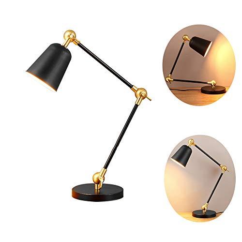Moderne minimalistische tafellamp, in hoogte verstelbare hoek tafellampen, creatieve metalen kap bureaulamp, geschikt voor learning kantoor bedlampje