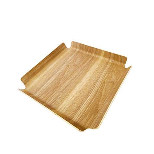 lqgpsx Serviertabletts aus Holz mit quadratischem Mehrzweckbett Serviertabletts für den Frühstück Couchtisch Butler Serviertabletts 36,7 x 36,7 cm