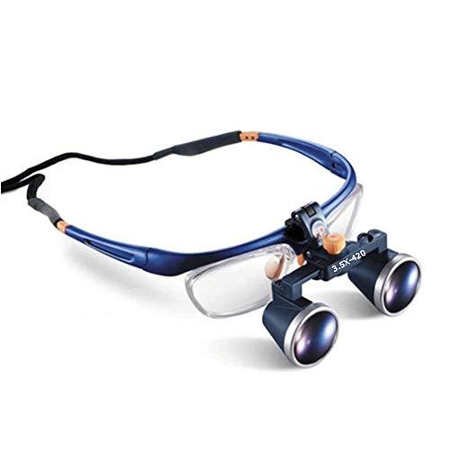 Portátil Dental 2,5X 3,5X 420 MM Quirúrgico Binocular Lupa Médico Lupa,3.5X
