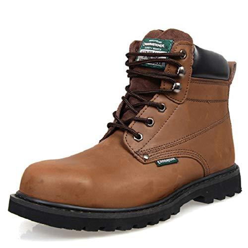 AZLLY industriële laarzen met stalen neus voor mannen, veiligheidsschoenen voor buitenbescherming