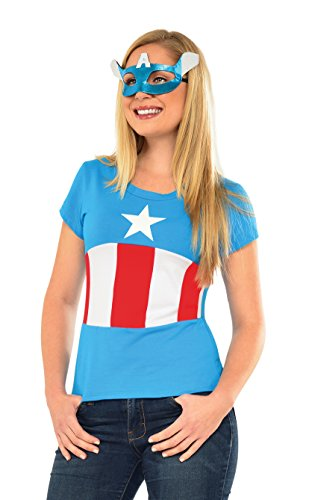 Rubie's Marvel Women's Universe American Dream Classic T Shirt, Multi, Medium
