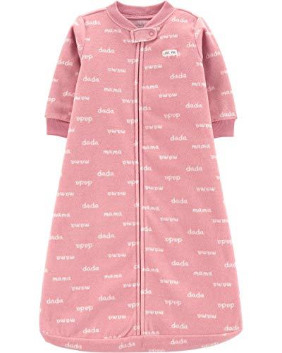 Carter's Unisex Baby Fleece Sleepbag Sleepsuit, Pink Mama Dada, Small / 0-3 Months