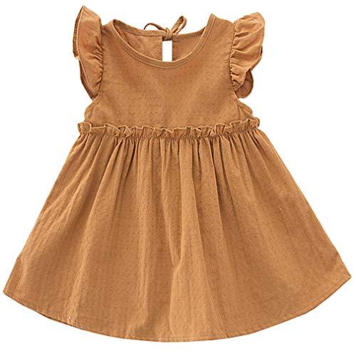 Niyage Vestido de túnica de algodón para bebés de 1 a 5 años - - 18 meses