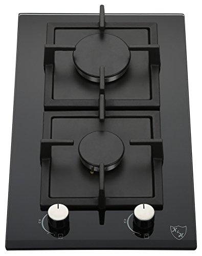 K&H® Domino Glas Gaskochfeld Erdgas 2Z-KHG