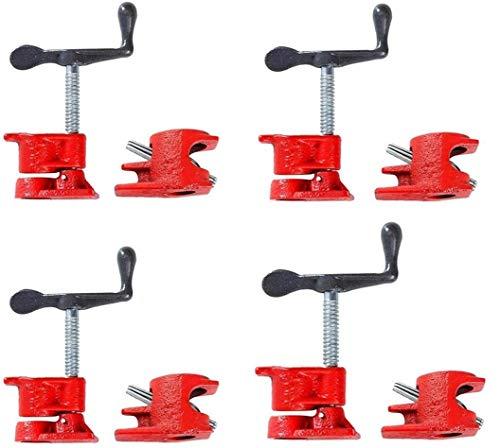 "FLK Tech 4 Pack 1/2"" Wood Gluing Pipe Clamp Set Heavy Duty"