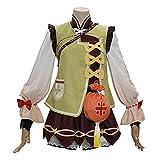 Xin Hai Yuan 2021 Anime Genshin Cosplay Yaoyao Cosplay Traje de Juego Lindo Lolita Vestido de Halloween, M