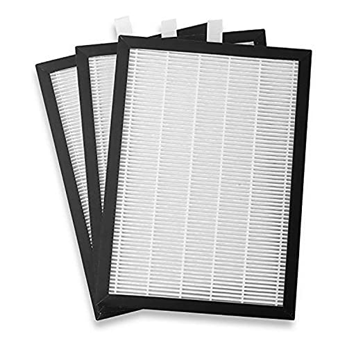 Meaco HEPA 12 Filter Replacement - True HEPA Air Filter Refill 12L Low Energy Dehumidifier Only - For Cleaner, Healthier Air - White/Black - 15.5 x 1 x 22cm - Pack of 3