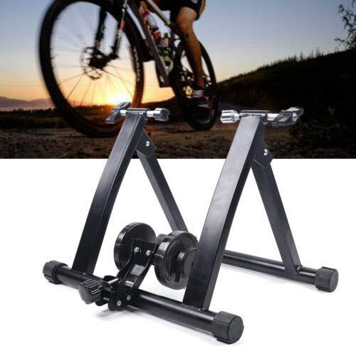 Bicicleta estática plegable con ruedas magnéticas para entrenamiento en interiores