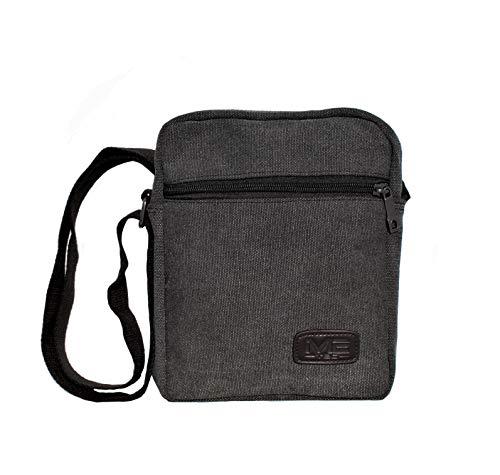 M2 Herren Schultertasche | Kleine Umhängtasche für Damen | Kinder Shoulder Bag | Ideal für Reisen, Citytouren, und vieles mehr (Grau)