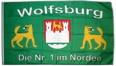 Flagge Fanflagge Wolfsburg - 90 x 150 cm