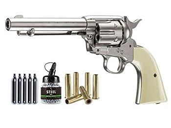 Colt Peacemaker SAA CO2 Revolver Kit Nickel air Pistol