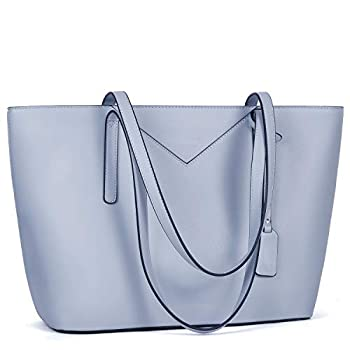 BROMEN Women Handbags Designer Leather Tote Purse Large Capacity Purses and Handbags Shoulder Bag Blue