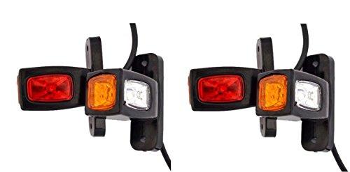 4 X 12 V 24 V côté Outline Planche d'extrémité LED Feux de gabarit Châssis de camion remorque benne Rouge Blanc Orange