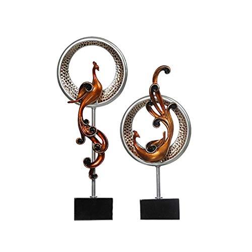 LIUSHI Escultura Minimalista Estadounidense, Moderno, Creativo, Adornos de Phoenix, gabinetes de Sala de Estar, Decoraciones de Oficina, Vitrina de Vino, estatuas de exhibición