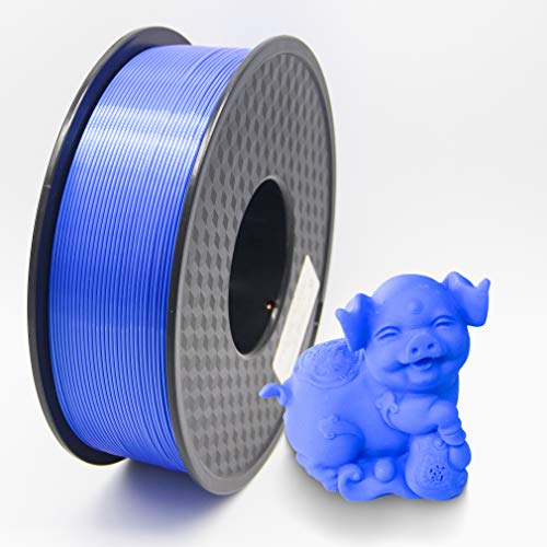 PLA Filament PLA 3D Printer Filament 1.75mm Dimensional Accuracy +/-0.02mm 3D Printing Material 1kg Spool(2.2lbs) for 1.75mm FDM 3D Printers(Blue)