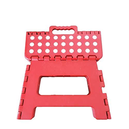 Gaorui(ガオルイ)踏み台 子供用 折り畳み式 ステップ コンパクト スツール 脚立 大人 レッド