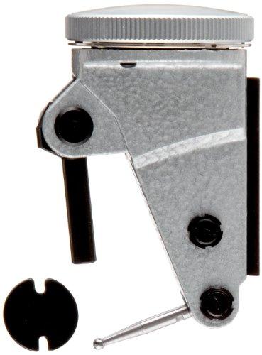 "TESA Brown & Sharpe 74.111377 Interapid 312 Dial Test Indicator, Vertical Type, M1.7x4 Thread, 0.157"" Stem Dia., White Dial, 0-15-0 Reading, 1.5"" Dial Dia., 0-0.06"" Range, 0.0005"" Graduation, +/-0.01mm Accuracy - 312B-1V"