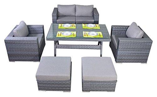 Puerto Royal Platinum Juego de sofá Mesa–Gris