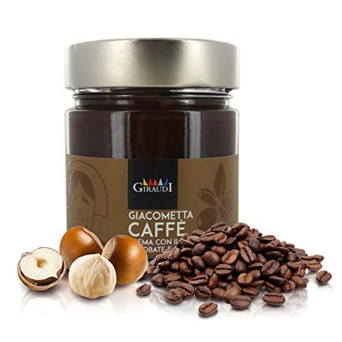 Giraudi Giacometta al caffè, Crema spalmabile alla Nocciola Piemonte IGP e caffè, Produzione Artigianale Italiana, 200g