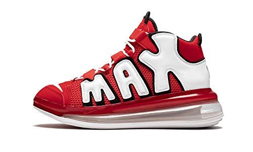 Nike Men Air More Uptempo 720 QS University Red/White/Black Size 10