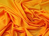 Lady McElroy Baumwoll-Seide-Voile-Stoff, Orange, Meterware