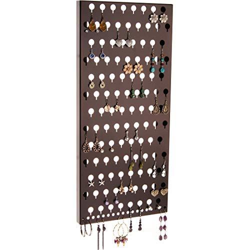 Ohrstecker-Halter, Wandhalterung, hängender Schmuckorganizer, Schrank, hängende Ohrringe, Schmuckaufbewahrung, Michelle Rubbed Bronze