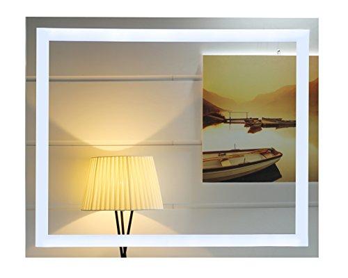 LED-Beleuchtung Badspiegel Lichtspiegel Wandspiegel Badezimmerspiegel Kaltweiß Tageslichtweiß (80 x 60 cm)