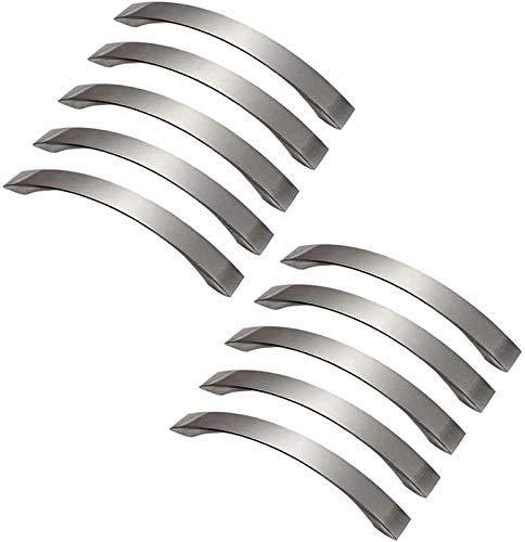 Lote de 10 tiradores de puerta de cocina cromados para mueble de cocina, distancia de agujero 128 mm