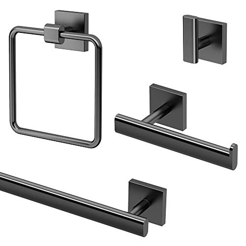 Gatco KA-ELE-4-MB Kit de accesorios de baño de 4 piezas, matte black