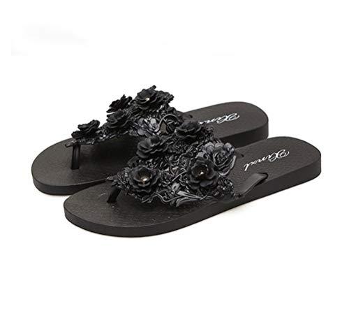 BIUU Zomervrouwen Flip-Flops slipvaste pantoffels van kunststof platte strandschoenen voor badkamer, gardon, keuken, slaapkamer