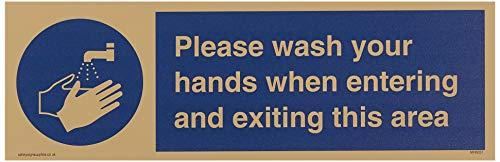 Was uw handen bij het betreden en verlaten van dit gebied