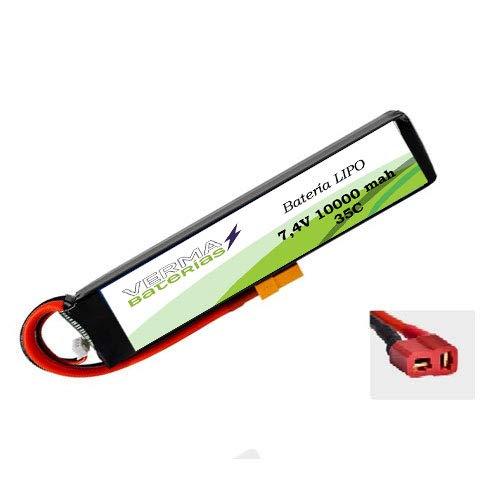 Verma Baterías Batería LIPO para cebador 7,4V 10000mah