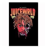 Suuyar ジュースWrld新しいヒップホップラッパー音楽歌手スターカバーポスターアートシルクキャンバスホームルーム壁印刷装飾-50X70Cmフレームなし