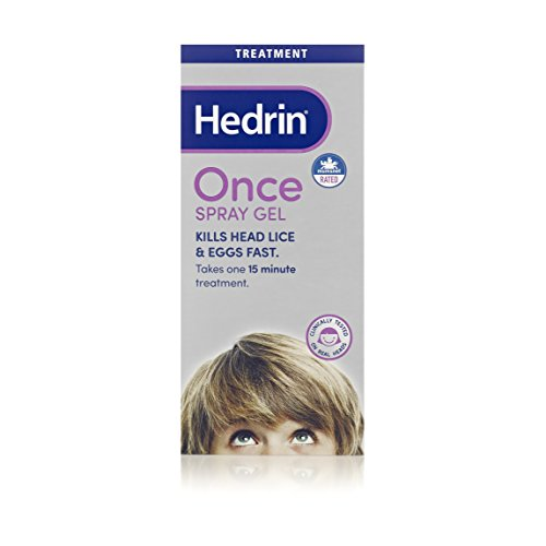 Hedrin Once Spray Gel, Head Lice Treatment, Nits Treatment, Kills Headlice...