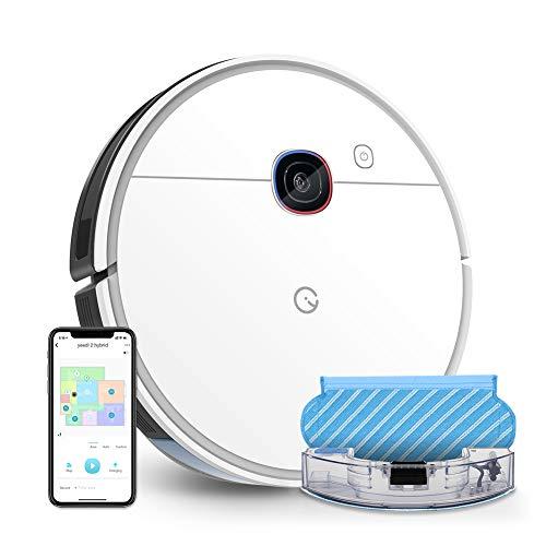 yeedi 2 hybrid Saugroboter mit Wischfunktion, Visual-SLAM-Navigation, 2500 Pa Saugleistung, Raumkarte, 200 min Laufzeit, funktioniert mit Alexa, Staubsauger Roboter für Tierhaare, Teppiche, Böden