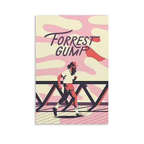 Affiche de film vintage Forrest Gump Art sur toile Art mural 30 x 45 cm