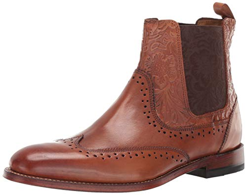 Stacy Adams Men's M2 Wingtip Chelsea Boot, Cognac, 8 D US