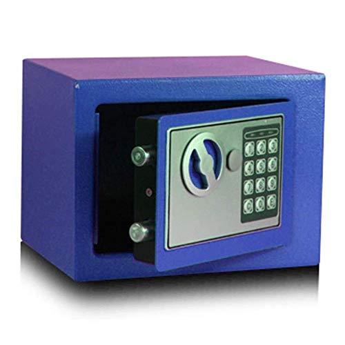 WANGJUNXIU Safes, Beveiliging Staal Kleine Home Office Digitale Elektronische Brandwerende Veilige Doos met Twee Toetsen Vloer Koffer 3 Kleuren Beschikbaar (Maat: 17 * 23 * 17cm) Safe Box Blauw