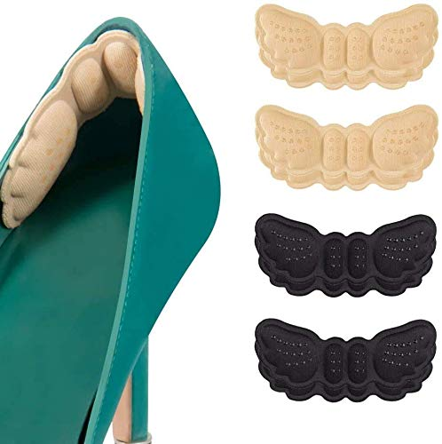 Heel Cushion Inserts,Heel Grips Shoe Pads for Loose Shoes Too Big Inserts Grips Liners Heel Blister Protectors for Women Men 4 Pairs (Thick)
