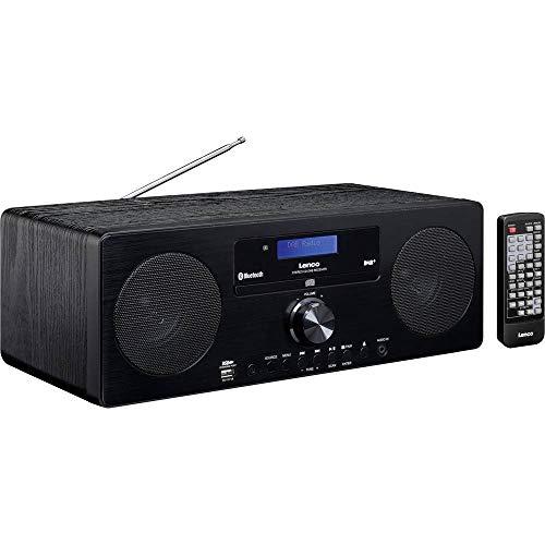 Lenco DAR-060 DAB+ Tischradio AUX, Bluetooth, CD Schwarz