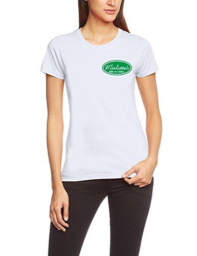 Coole-Fun-T-Shirts T-Shirt Merlotte's BAR and GRILL - true blood !, weiß, XL, 10659_weiss-green-girly_GR.XL