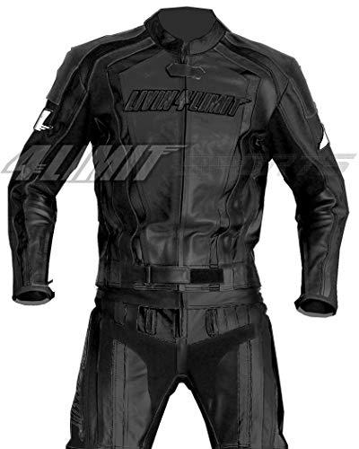 4LIMIT Sports Motorrad Lederkombi LAGUNA SECA Zweiteiler, Schwarz, Größe M