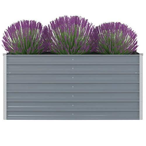 Estink Garten Hochbeet, Terrasse Hochbeet Metall Pflanzbeet Pflanzkübel, aus Verzinkter Stahl, 160 x 80 x 77 cm, für Terrasse Balkon